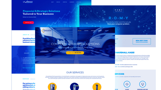 single page webdesign